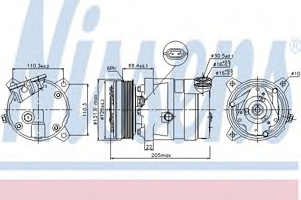 Компресор кондиціонера Chevrolet Lacetti 1.4 05-/Opel Astra F 1.4 93- NISSENS 89058
