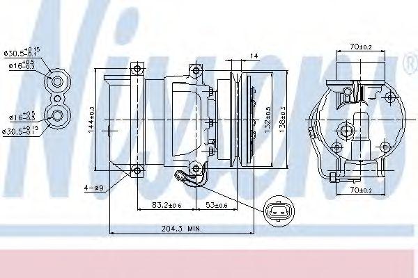 компрессор кондиционера DAEWOO LANOS  97- 1.3-1.6 (Nissens)                                          NISSENS 89108