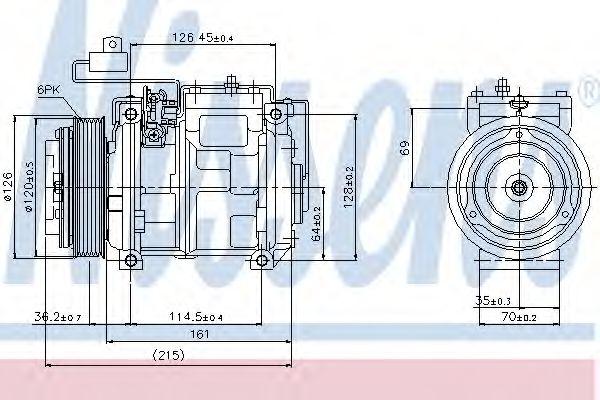 Компрессор кондиционера MERCEDES SPRINTER W 901-905 (95-) (Nissens)                                  NISSENS 89132