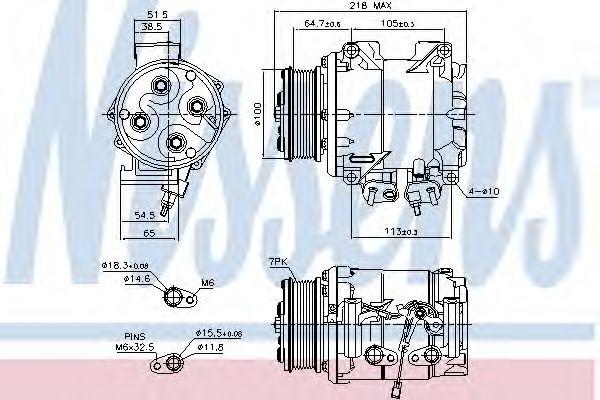Компрессор кондиционера HONDA ACCORD VII, CR-V (пр-во Nissens)                                       NISSENS 89242