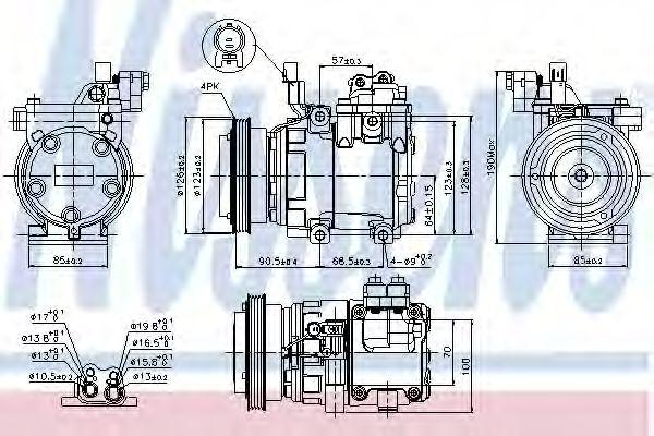 Компрессор кондиционера HYUNDAI TUCSON/KIA SPORTAGE 2.0 i 16V (пр-во Nissens)                        NISSENS 89286