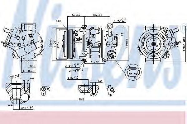 Компрессор кондиционера TOYOTA AURIS, AVENSIS, COROLLA (пр-во Nissens)                               NISSENS 89314