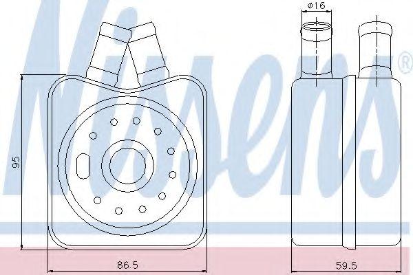Радіатор охолодження NISSENS 90608