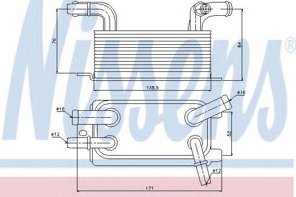 Масляный радиатор АКПП Масляный радиатор NISSENS арт. 90642