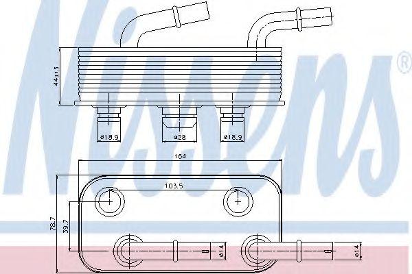 Масляный радиатор АКПП Масляный радиатор NISSENS арт. 90657