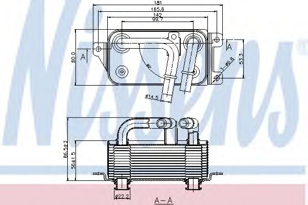 Масляный радиатор АКПП Масляный радиатор NISSENS арт. 90623
