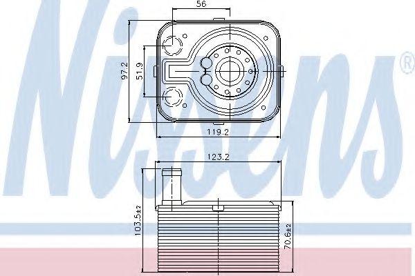 Радіатор охолодження NISSENS 90655