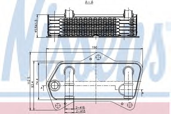 Масляный радиатор АКПП Масляный радиатор NISSENS арт. 90653