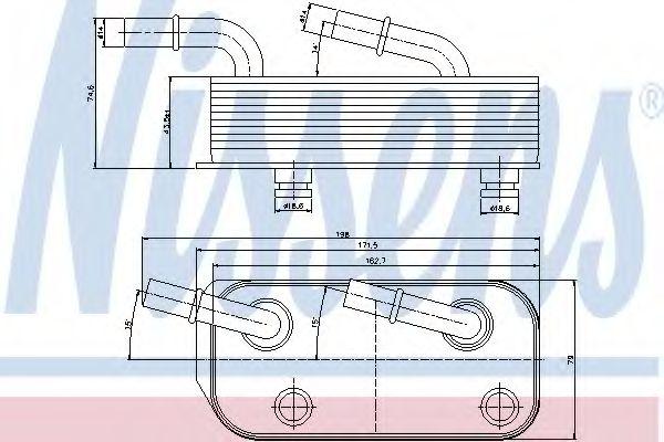 Масляный радиатор АКПП Масляный радиатор NISSENS арт. 90658