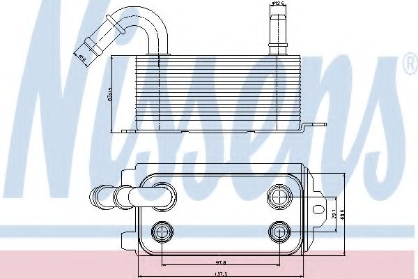 Масляный радиатор АКПП Масляный радиатор NISSENS арт. 90661
