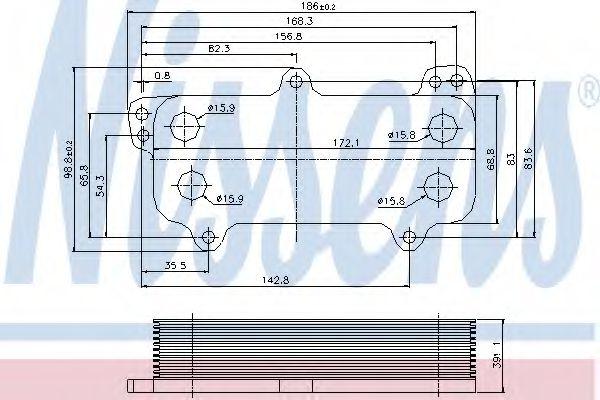 Радіатор охолодження NISSENS 90684