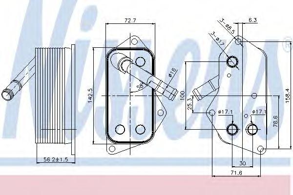 Радиатор масляный BMW (пр-во Nissens)                                                                 арт. 90689