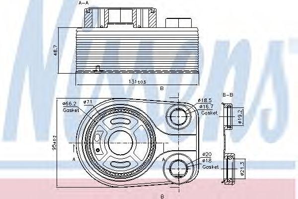 Радіатор охолодження NISSENS 90705