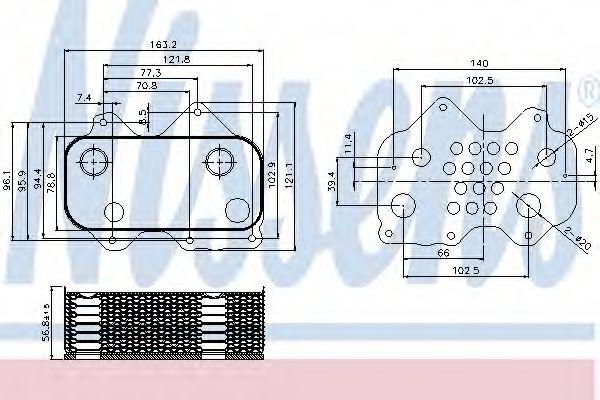 Радіатор охолодження NISSENS 90712