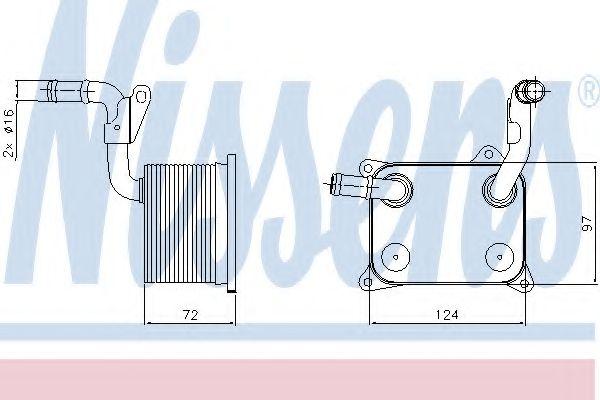 Радіатор охолодження NISSENS 90744