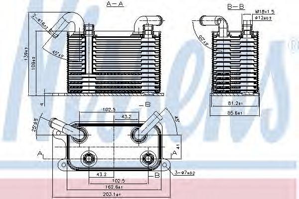 Масляный радиатор АКПП Масляный радиатор NISSENS арт. 90722