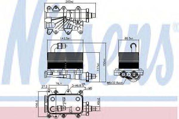 Масляный радиатор АКПП Масляный радиатор NISSENS арт. 90673