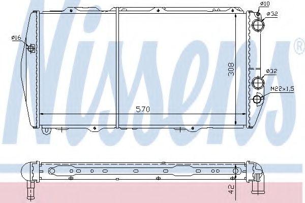 Радиатор охлаждения AUDI 100 (C2) (76-) (пр-во Nissens)                                              в интернет магазине www.partlider.com