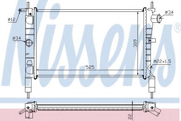 Радиатор охлаждения OPEL ASTRA F (91-) 1.4/1.6 (пр-во Nissens)                                       в интернет магазине www.partlider.com