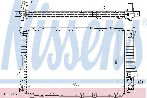 Радіатор охолодження NISSENS 60459