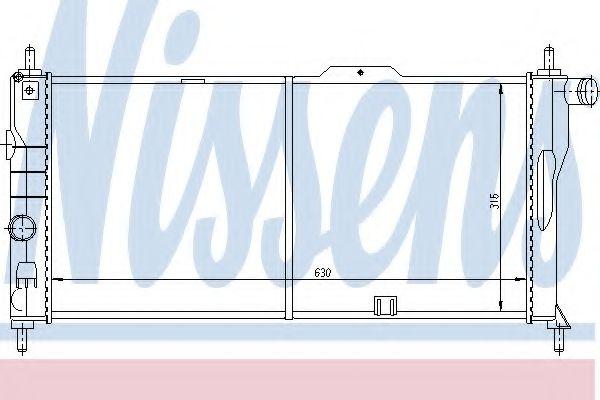 Радиатор охлаждения OPEL KADETT E (84-) 1.6-2.0i (пр-во Nissens)                                     в интернет магазине www.partlider.com