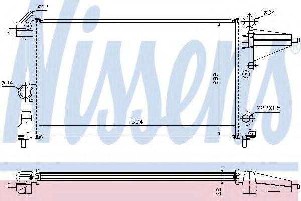 Радиатор охлаждения OPEL VECTRA A (88-) 1.4/1.6i (пр-во Nissens)                                     в интернет магазине www.partlider.com