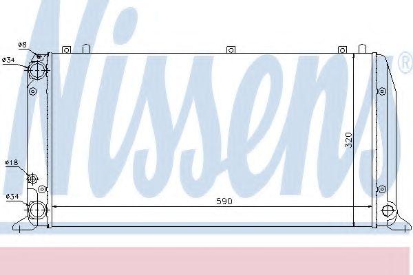 Радиатор охлаждения AUDI 80 / 90 (B3) (86-) 1.6-2.0(пр-во Nissens)                                   в интернет магазине www.partlider.com
