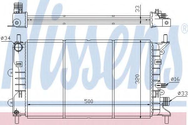 Радиатор охлаждения FORD ESCORT/ORION (пр-во Nissens)                                                в интернет магазине www.partlider.com