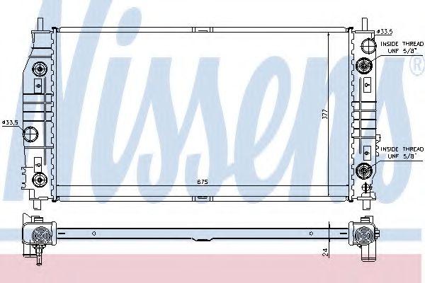 Радиатор охлождения CHRYSLER 300M (98-) (пр-во Nissens)                                               арт. 69016