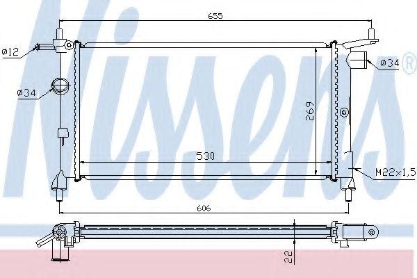 Радиатор охлаждения OPEL COMBO (93-)/CORSA B (93-) (пр-во Nissens)                                   в интернет магазине www.partlider.com