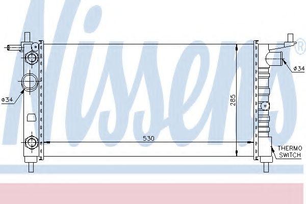 Радиатор охлаждения OPEL CORSA B (93-) 1.4 i (пр-во Nissens)                                         в интернет магазине www.partlider.com