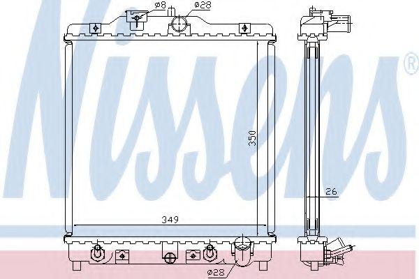 Радиатор охлаждения HONDA CIVIC, HR-V (пр-во Nissens)                                                в интернет магазине www.partlider.com