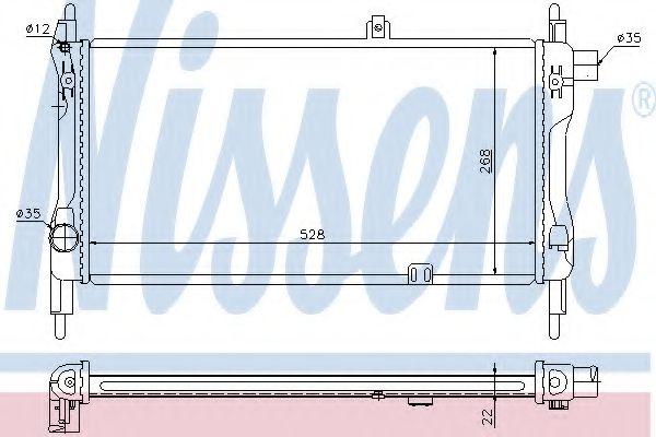 Радиатор охлаждения OPEL KADETT E (84-) 1.3 (пр-во Nissens)                                          в интернет магазине www.partlider.com