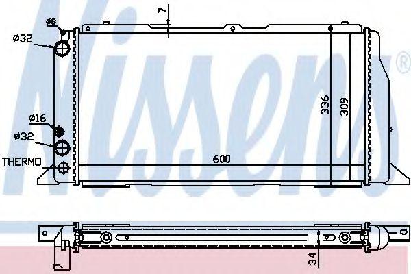 Радиатор охлаждения AUDI 80/90 (B3) (86-) (пр-во Nissens)                                            в интернет магазине www.partlider.com