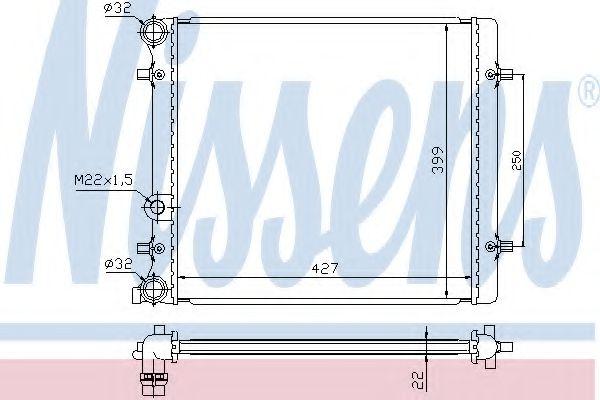 Радіатор охолодження NISSENS 641011