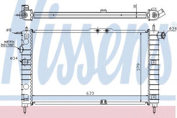 Радиатор охлаждения DAEWOO NEXIA (94-) (пр-во Nissens)                                               в интернет магазине www.partlider.com