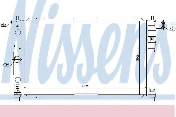 Радиатор охлаждения DAEWOO LANOS (97-) 1.3-1.6 i (Nissens)                                           в интернет магазине www.partlider.com