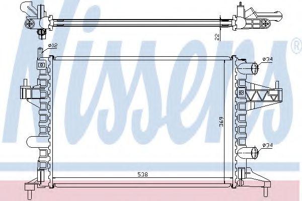 Радиатор охлаждения OPEL CORSA C (00-) (пр-во Nissens)                                               в интернет магазине www.partlider.com
