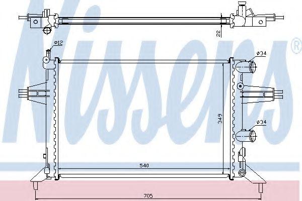 Радиатор охлаждения OPEL ASTRA G (98-) (пр-во Nissens)                                               в интернет магазине www.partlider.com