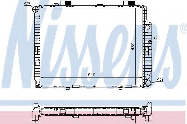 Радіатор охолодження NISSENS 62598A