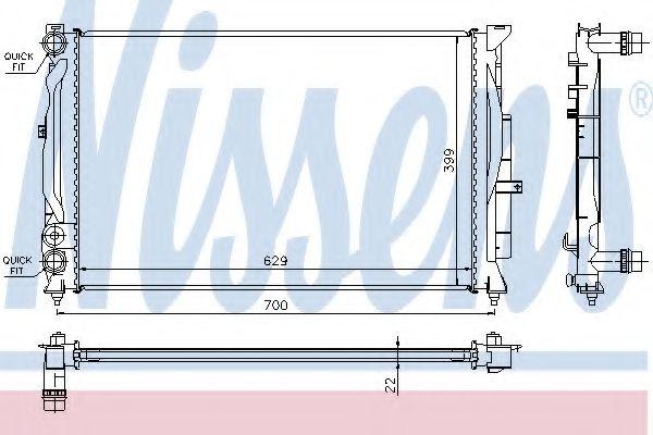 Радіатор охолодження NISSENS 60308A