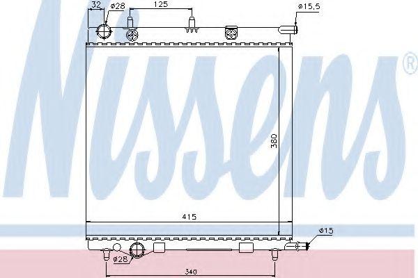 Радиатор охлаждения CITROEN; PEUGEOT (пр-во Nissens)                                                 в интернет магазине www.partlider.com