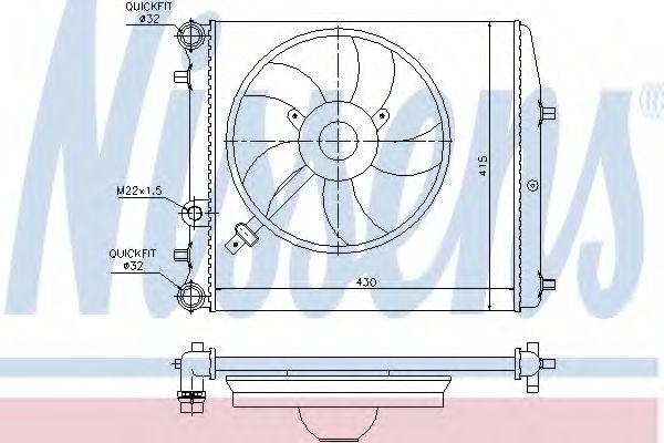 Радіатор охолодження NISSENS 64103