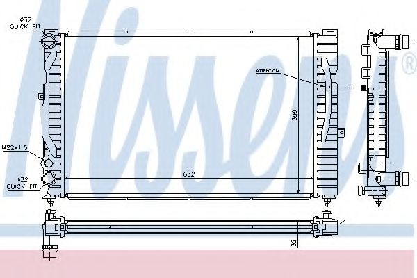 Радіатор охолодження NISSENS 60299