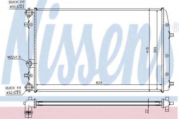 Радіатор охолодження NISSENS 652711