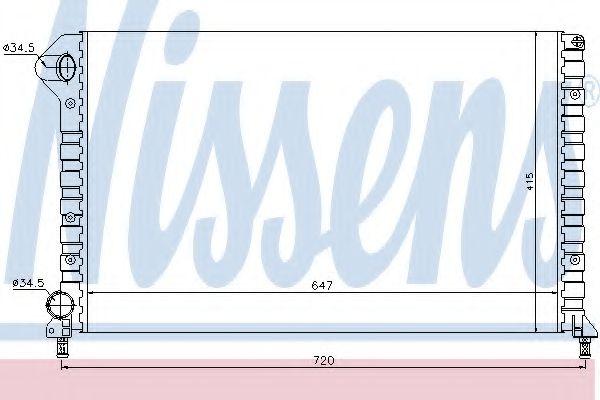 Радиатор охлаждения FIAT DOBLO (119, 223) (01-) MT (пр-во Nissens)                                   в интернет магазине www.partlider.com