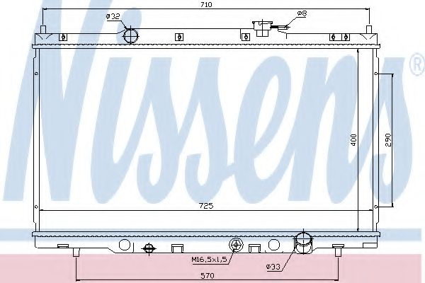 Радиатор HD CR-V(02-)2.0 i 16V[OE 19010-PNL-G01]  арт. 68103