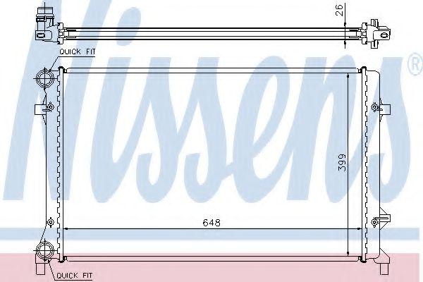 Радіатор охолодження NISSENS 65277A