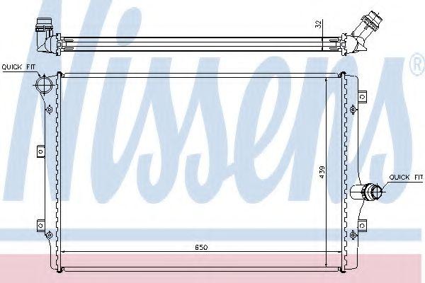 Радіатор охолодження NISSENS 65281A