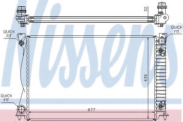 Радіатор охолодження NISSENS 60233A